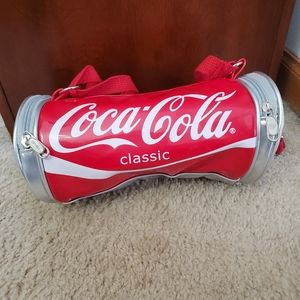 Red and white Coca-cola crossbody bag